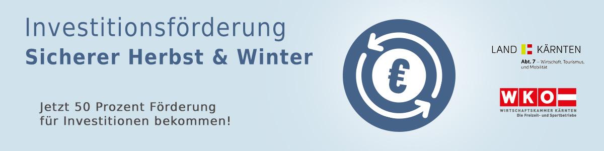Investitionsförderung Sicherer Herbst & Winter - Jetzt 50 % Förderung für Investitionen bekommen!